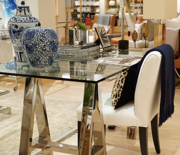 Williams-Sonoma-Mason-Glass-Top-Desk